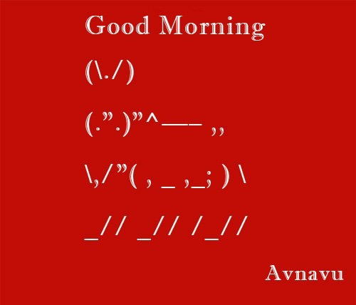 good-morning-anscii-character-wish-sms