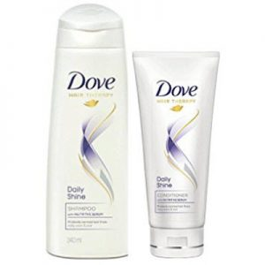 Dove Daily Shine Shampoo 340ml with Conditioner, 80ml Rs. 207